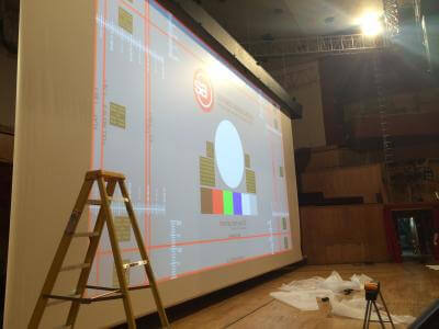 Camstage fixes noidy screen at Brewery Arts Cente