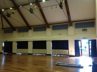 Ipswich School rehires Camstage for CamStyle™ acoustic panels and curtains.