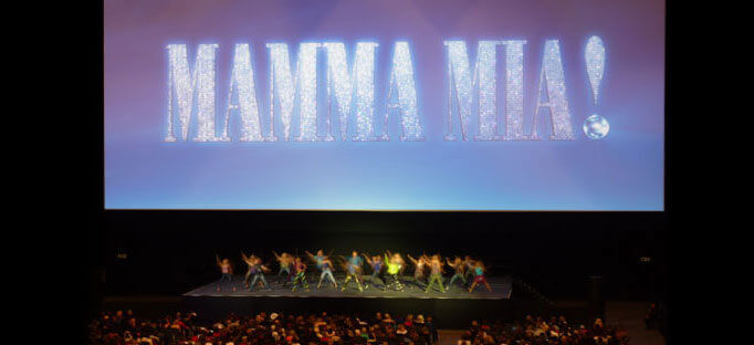 Camstage installs huge screen for Mamma Mia! at the 02