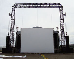 Screens and Frames for Outdoor Events