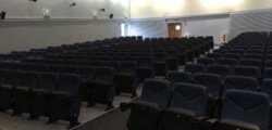 Camstage delivers seats, walls, curtain to military base