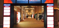 Entrance to cinema trade show CinemaCon 2018
