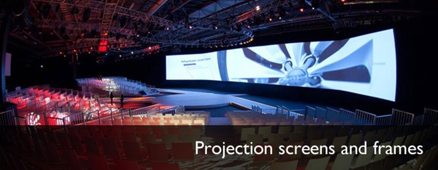 Projection screens and frames