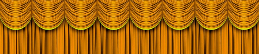 gold stage curtains