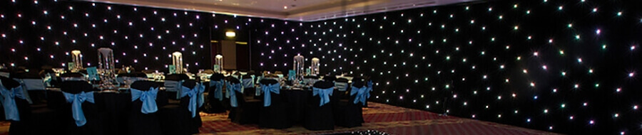 Dramatic backdrops for award ceremonies and product launches