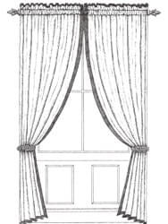 Channelled Top Curtain with Tall Stand-up