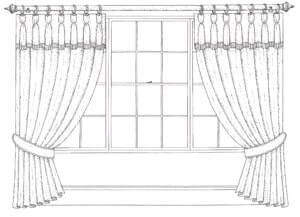 Pole for Goblet Petticoated Curtain Heading