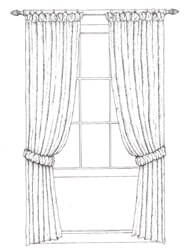 Pole for Puffball Headed Curtains