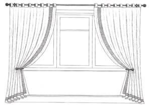 Pole for Tab Top Headed Curtains